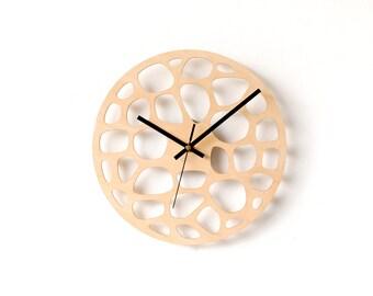 Mid century clock / Unique wall clock / Geometric clock / Wall clock / Large wall clock / Unique wall clock /  Modern wall clock