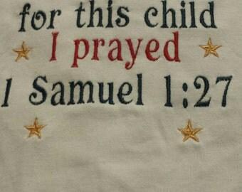 for this child I prayed 1Samuel 1:27
