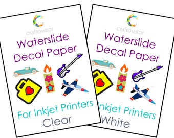 CLEAR Waterslide Decal Paper for INKJET Printers - Choice of Pack Sizes - Perfect for Candles, Model-Makers, Ceramics + More!
