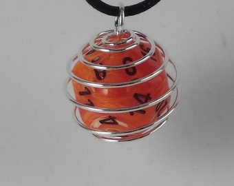 Signature Series D20 Creamsicle Necklace