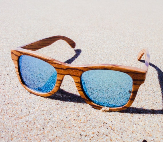 97e88f1bc45 Blue Wooden Glasses