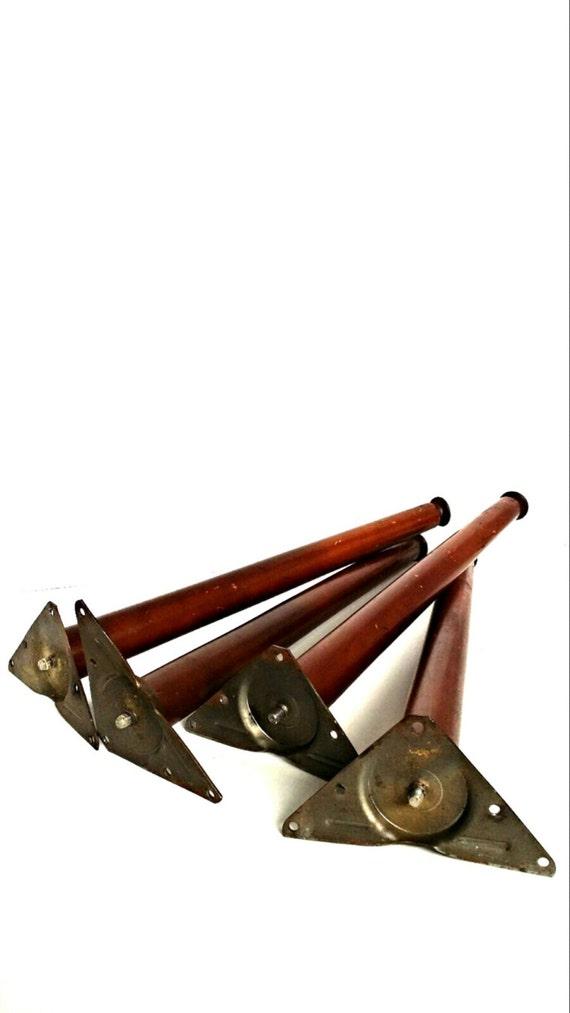 vintage wood furniture legs mid century chair legs tapered. Black Bedroom Furniture Sets. Home Design Ideas