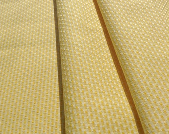 Yellow quality Cotton, fancy weave, by the meter, Apparel or Craft