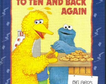 Vintage Sesame Street Big Bird Book  I Can Count to Ten and Back Again