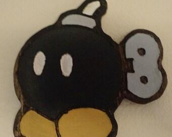 Super Mario Bros - Wood Carved Bob-Omb