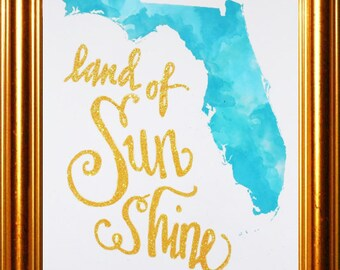 Glittered You are My Sunshine Florida Photo