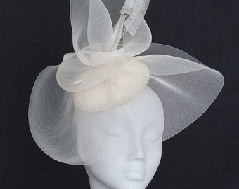 Ivory Fascinator Headpiece