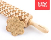 Cow - Embossed, engraved rolling pin for cookies
