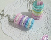 Cute macarons necklace