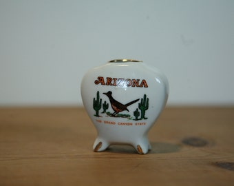 Clearance SALE WAS 18.00! - Arizona 'The Grand Canyon State' Mini Vase - Vintage Souvenir from the Grand Canyon