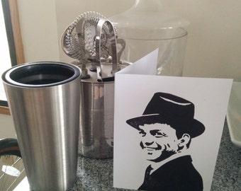 Frank Sinatra Hand Printed Card (blank inside)