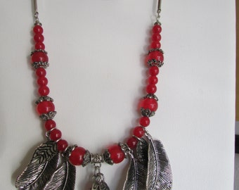 Ruby and Silver Necklace