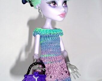 Knitting Patterns For Monster High Dolls : Pattern knitted beret for monster high dolls Blue by OLuDesing