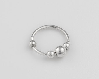 Sterling silver nose ring. silver nose ring. nose piercing. nose rings. nose jewelry. nose hoop. nose ring. nose ring hoop. nose ring 18g.