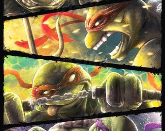 TMNT Art Poster | Teenage Mutant Ninja Turtles | Epic | Painting | Premium Quality Giclee Archival Print
