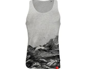 Obstacles • All-over-print, organic & fair trade cotton, screen printing, water based inks, soft-hand-feel
