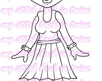 Digital stamp colouring image -  Ballet Charlee . jpeg / png