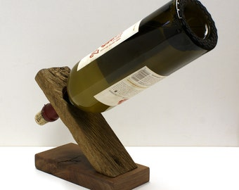 Items similar to reclaimed barnwood wine balancer grape design wine bottle holder on etsy - Wine bottle balancer plans ...
