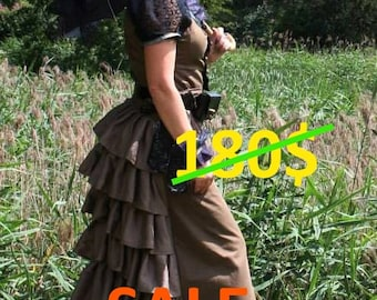 Steampunk dress custom made full costume