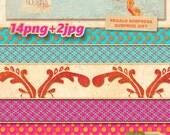Digital Scrapbooking, craft, crafts, life journal. PNG + jpg.
