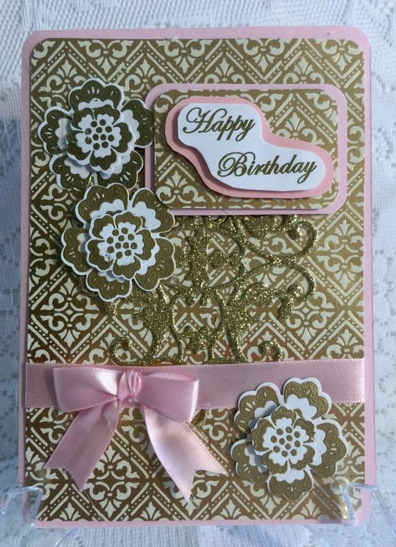 Birthday elegant handmade cardstock greeting card for Elegant homemade christmas cards
