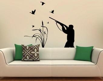 Bird Hunting Wall Decal Vinyl Stickers Active Hobbies Hunter Interior Home  Design Art Murals Bedroom Decor Part 45