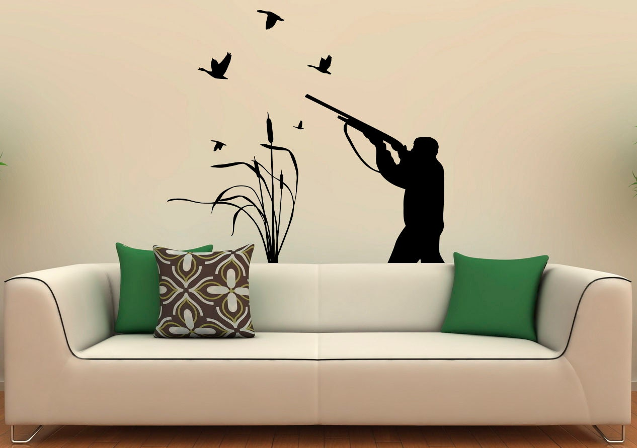 Bird hunting wall decal vinyl stickers active hobbies hunter for Hunting wall decals