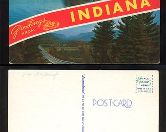 Greetings From Indiana Postcard