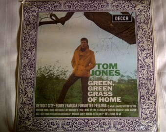 Tom Jones 'The Green, Green, Grass Of Home' Vinyl Record. Tom Jones Music