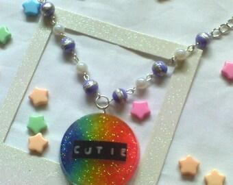 Cutie Rainbow Kawaii Necklace