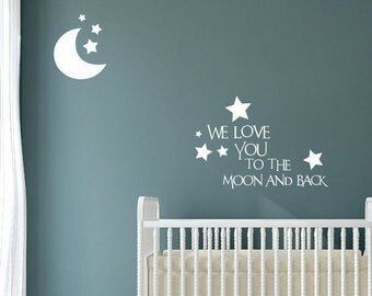 Items Similar To We Love You To The Moon And Back Again