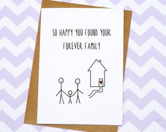 Adoption Card - Forever Family Card - Adoptive Family
