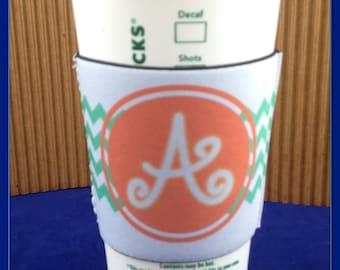 Initial Neoprene Coffee Cup Insulator
