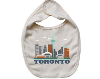 Organic Baby Bib - Toronto City Living Design - Show Off Your Favorite City