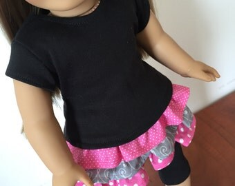 Black Shirt. 18 inch doll clothes. Fits American Girl doll