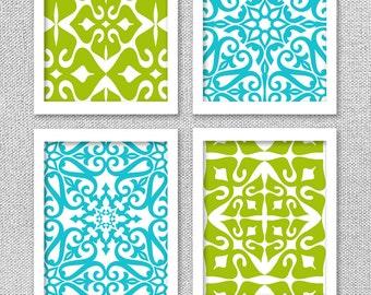 PRINTABLE Art, Turquoise Art, Chartreuse Art, Printable Bedroom Art, INSTANT DOWNLOAD Art, Printable Wall Art, Digital Art, Art Prints