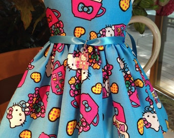Hello Kitty Cup dress fits 18 inch dolls including American Girl Doll