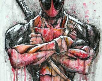 Deadpool Artwork Print
