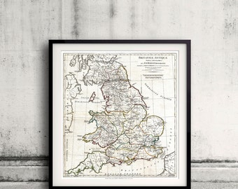 Map of England in Ancient Roman times - Horsley - 1794 - SKU 0272
