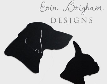 Hand-cut Silhouette Pet Portrait, unframed