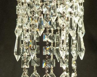 luxe crystal celine easy clip on magnet mini bling crystal chandelier for recessed spot light