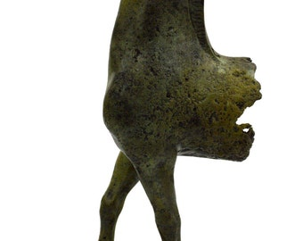 Horse front remains Ancient Greek marble based bronze statue