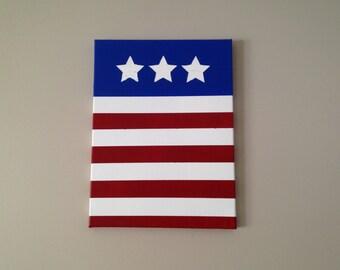 USA Flag Painting // home decor // wall hanging