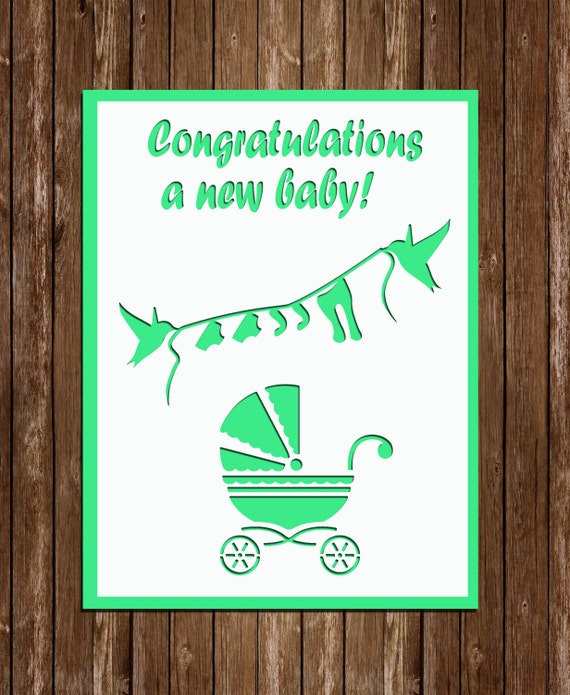 New Baby SVG PDF Cutting Files Paper Ctutting Template