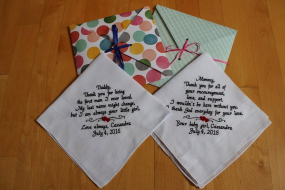 Wedding Gifts For Couples In Singapore : Set of 2 Wedding Handkerchief Wedding Poem Hanky. Bride Gift. Wedding ...