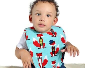 Fox Baby Bib // Red Fox Bib // Gift for Baby Boy