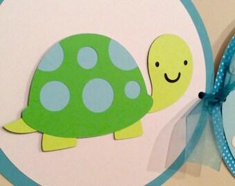 Turtle Banner / Baby Shower Banner / Turtle Birthday Party / Turtle Baby Shower Banner