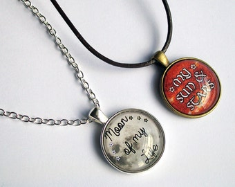 Game Of Thrones Necklaces - Moon Of My Life - My Sun & Stars - Couples Necklace Set - Game of Thrones Jewelry - His and Hers