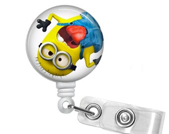 Minion Badge reel, ID Badge holder, retractable badge reel