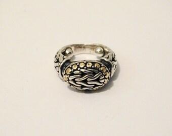 18k / 925 Stamped Vintage size 3 Dome Ring.